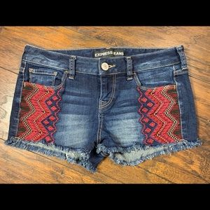 Express embroidered cutoff shorts 2